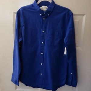 NWT Old Navy mens blue button down shirt